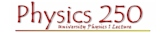 WKU Physics 250 - University Physics I